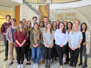 Twenty students in Opinion in the News shared opinions on social issues and artistic work during the semester.