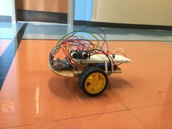 A robot on the Miami Robotic Challenge course