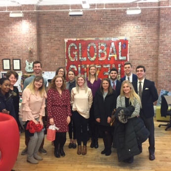 Cassie Carothers directs six or seven writers for Global Citizen.